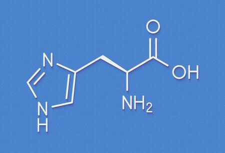 Histidine (l-histidine, his, H) amino acid molecule. Skeletal formula. Reklamní fotografie