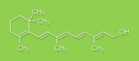 Vitamin A (retinol) molecule. Skeletal formula.