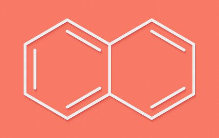 Naphthalene aromatic hydrocarbon molecule. Used as mothball ingredient. Skeletal formula.
