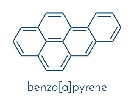 Benzo[a]pyrene (BaP) polycyclic aromatic hydrocarbon molecule. Skeletal formula.