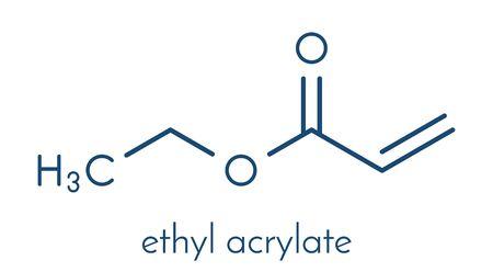 Ethyl acrylate molecule. Skeletal formula.