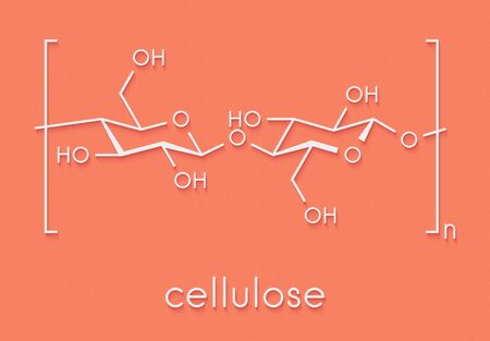 Cellulose, chemical structure. Main component of cotton fiber, wood, paper, etc. Skeletal formula. Reklamní fotografie