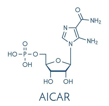 AICA ribonucleotide (AICAR) performance enhancing drug molecule. Used as doping agent. Skeletal formula.