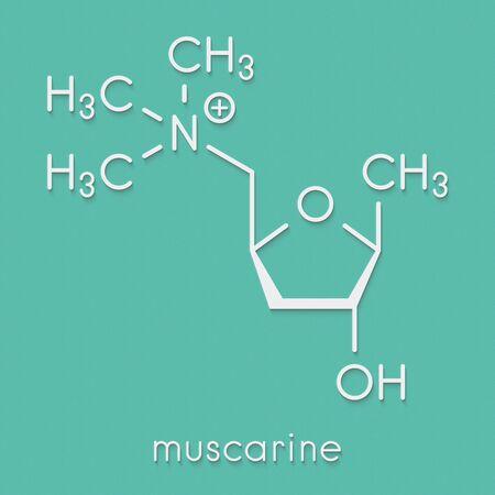 Muscarine mushroom toxin molecule. Agonist of the muscarinic acetylcholine receptors. Skeletal formula.