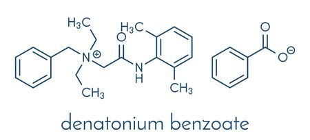 Denatonium benzoate bittering agent. Skeletal formula.