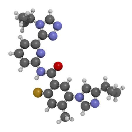 linzagolix, GnRH, gonadotropin, releasing, hormone, antagonist, GnRH, uterine, fibroid, fibroids, endometriosis, adenomyosis, disease, drug, therapy, medicine, medicinal, pharmacology, pharmacy, pharmaceutical, pharma, treatment, molecule, atoms, chemical, chemistry, composition, atomic, model, molecular, 3D rendering, 3D illustration