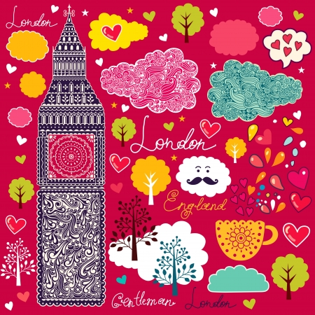set of London symbols Stock Vector - 15188412