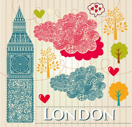 set of London symbol Vector