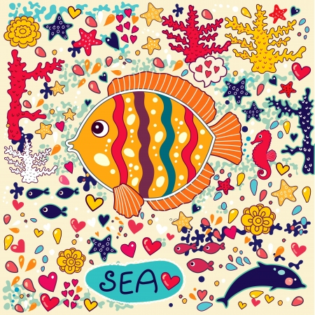 horse fish: wallpaper with fish and marine life