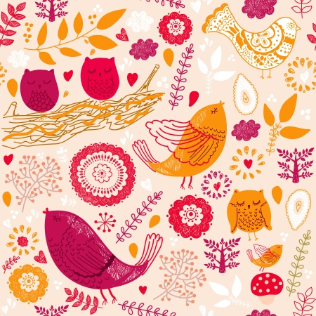 wrapping paper: Seamless  floral pattern Illustration