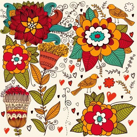 Fondo floral Foto de archivo - 15384106