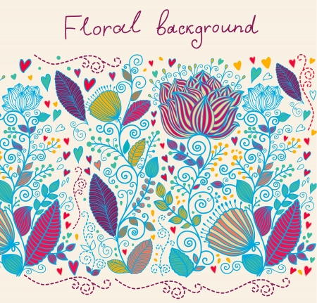 retro patterns: floral background