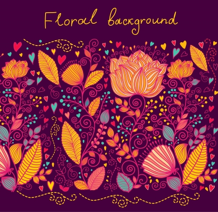 Beautiful ornate floral background Vector