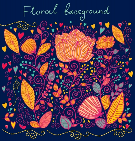 Hermoso fondo floral adornado Foto de archivo - 15383860