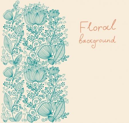 Beau fond floral orné Banque d'images - 15383864