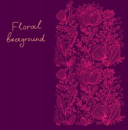 Bello sfondo ornato floreale