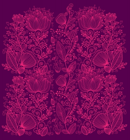 Beautiful ornate floral background Stock Vector - 15383880