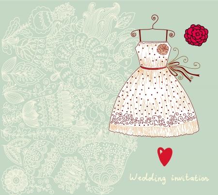 Illustration avec la robe Banque d'images - 15384427