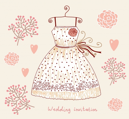 illustration with dress Vector