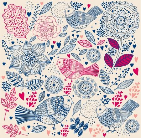 vintage floral pattern:  floral background