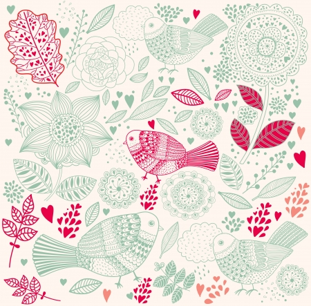 floral background Stock Vector - 15381330