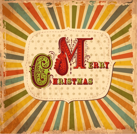 old fashioned christmas: Vintage Christmas card
