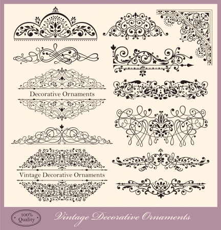 vintage borders: Vector set of Ornaments and Design Elements