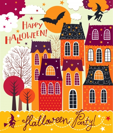 Halloween holiday card Stock Vector - 15768334