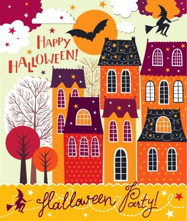 Halloween holiday card Stock Vector - 15768334
