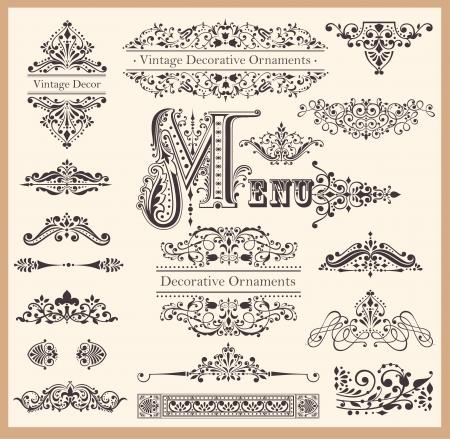 Conjunto de adornos y elementos de diseño Foto de archivo - 15768332
