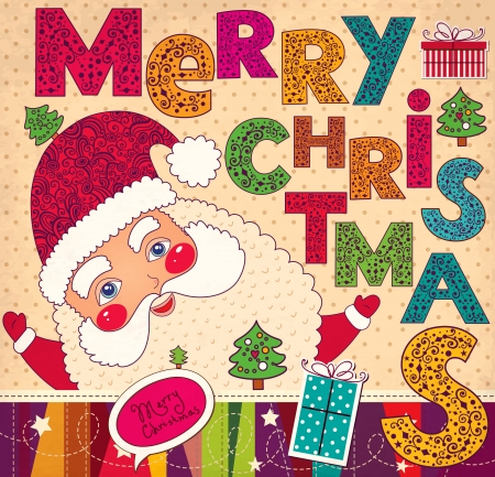 聖誕節插圖有趣的聖誕老人