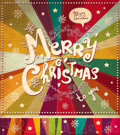 x mas: Vintage vector Christmas card