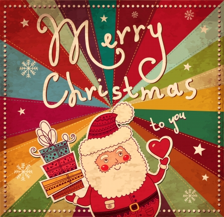 빈티지 크리스마스 카드 일러스트