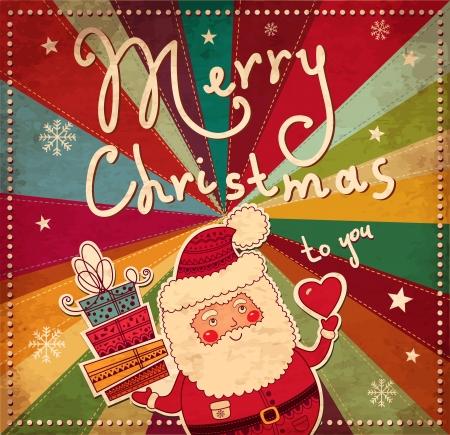 Vintage Cartolina di Natale Archivio Fotografico - 16439872