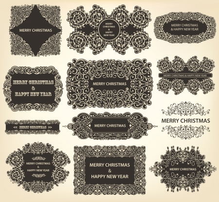 Vector collection of Christmas Ornaments and Decorative Elements Vector