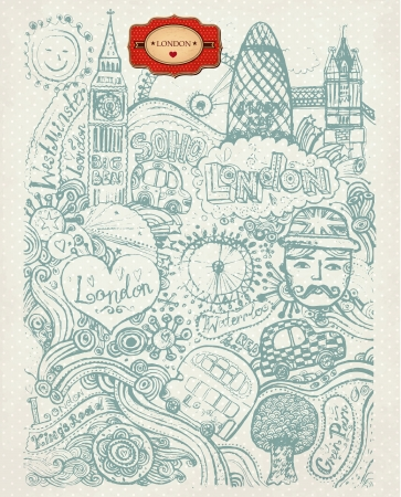 scetch: Vector set of London symbols