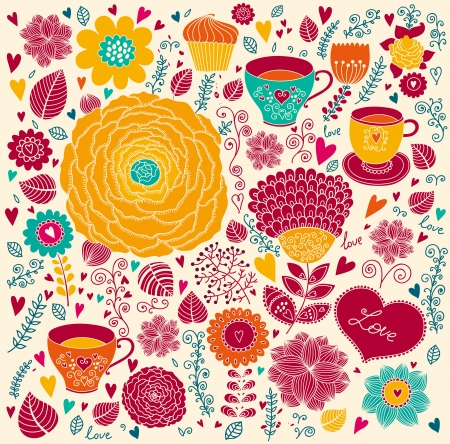 Vector floral background Stock Vector - 17393659