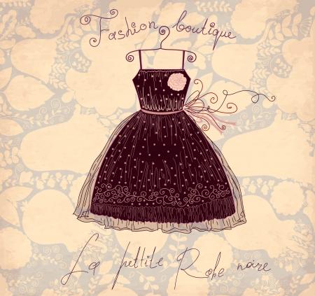 Vector illustratie met symbolen van de Franse mode