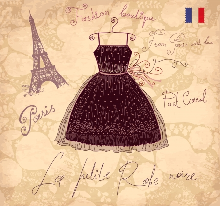 Vector illustration with symbols of french fashion Vector