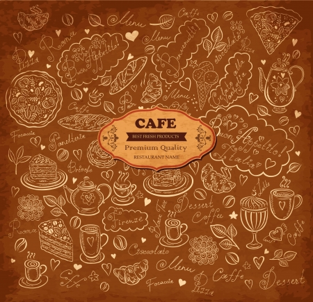 Retro background for design menu