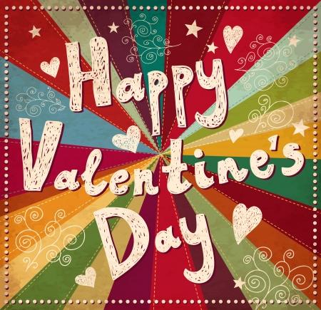 발렌타인 데이 인사말 카드 일러스트