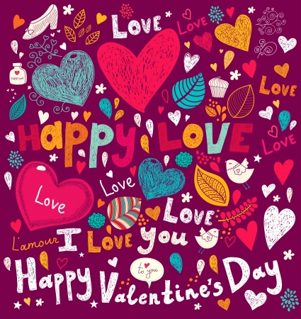Vector art Valentine Greeting card Stock Vector - 17693874