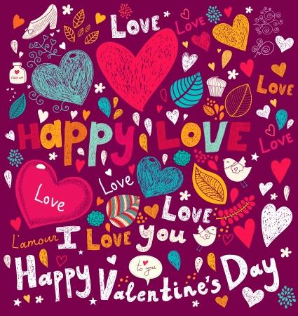 Vector art Valentine Greeting card Stock Vector - 17693874