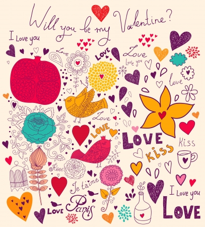Vector art Valentine Greeting card Stock Vector - 17693860