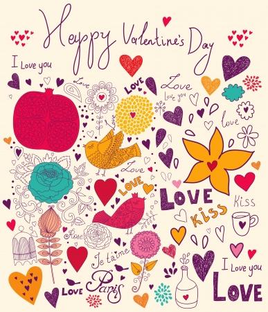 Vector art Valentine Greeting card Stock Vector - 17693859