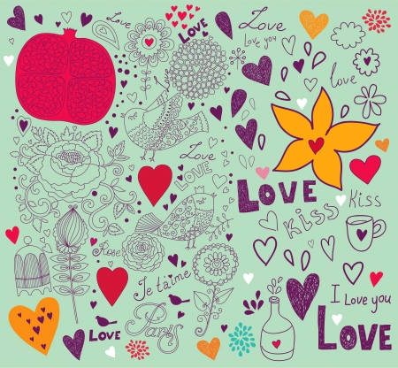 Vector art Valentine Greeting card Stock Vector - 17693856