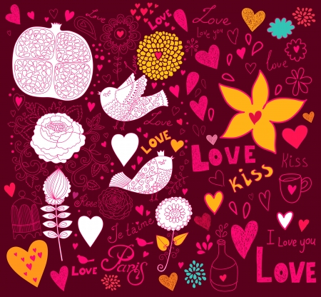 Vector art Valentine Greeting card Stock Vector - 17693875