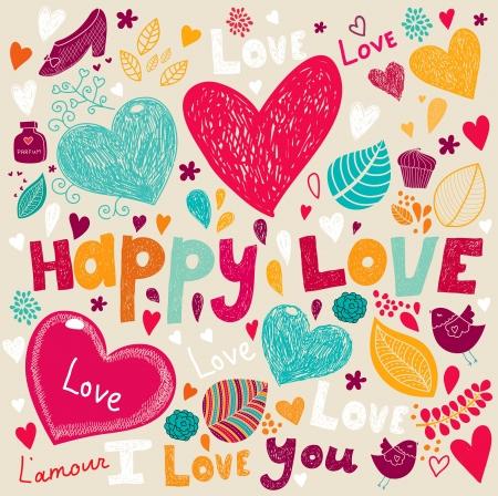 Vector art di San Valentino Biglietto di auguri Vettoriali