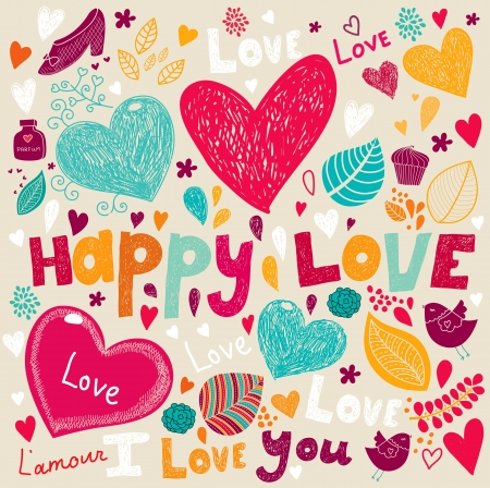 Vector art Valentine Greeting card