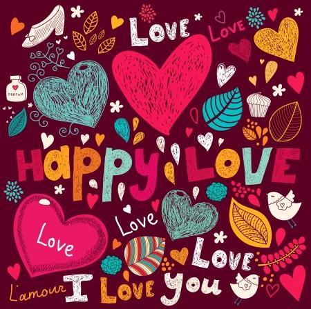 Arte del vector de San Valentín tarjeta de felicitación Vectores